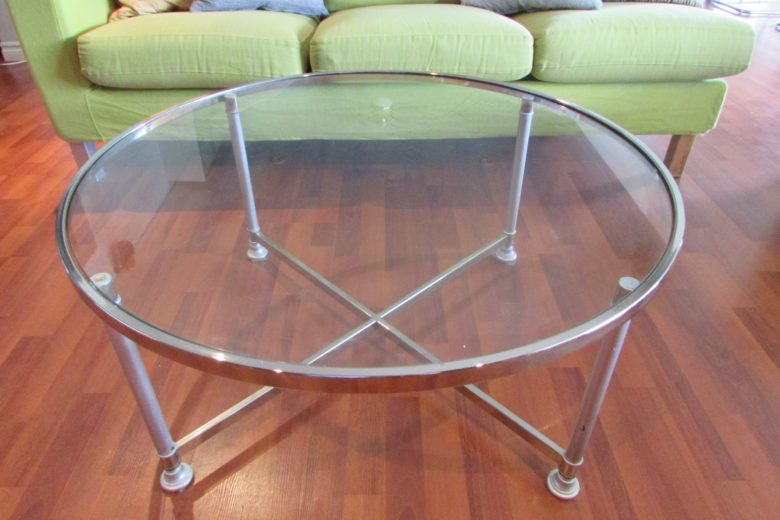 Brass To Chrome Coffee Table - After