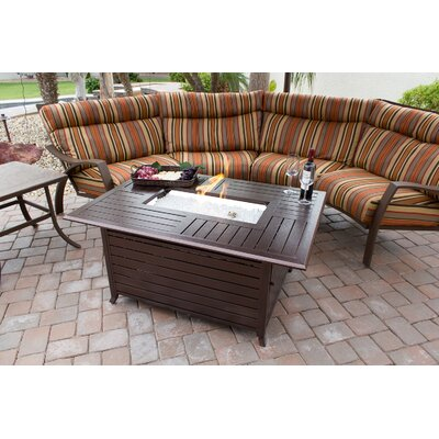 Aluminum Propane Fire Pit Table with Wine and Cheese