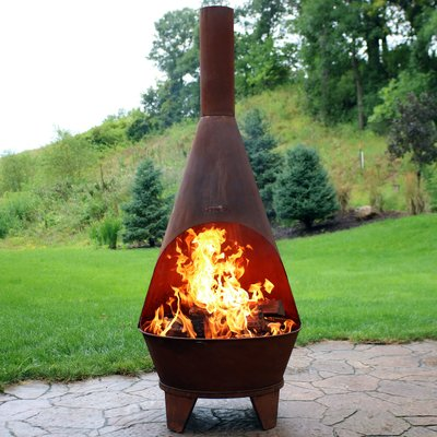 Arneson Steel Wood Burning Chiminea by Foundry Select