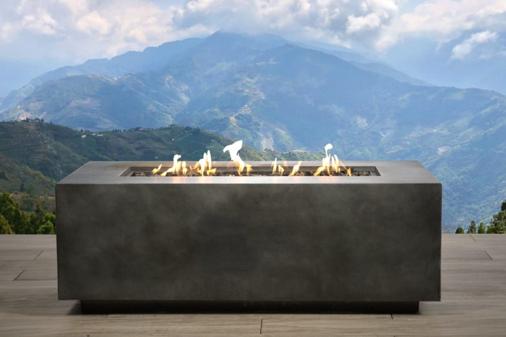 Large Concrete Propane Firepit Coffee Table