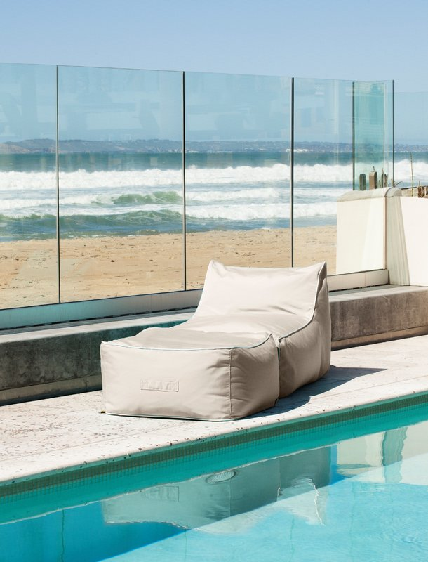 Casual Lounge Chair and Ottoman Set with Sunbrella Fabric