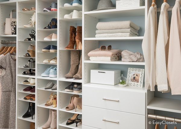Shoe Storage in Large Closet