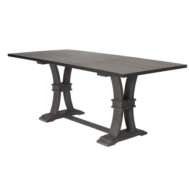Gracie Oaks Noemi Extendable Rustic Dining Table