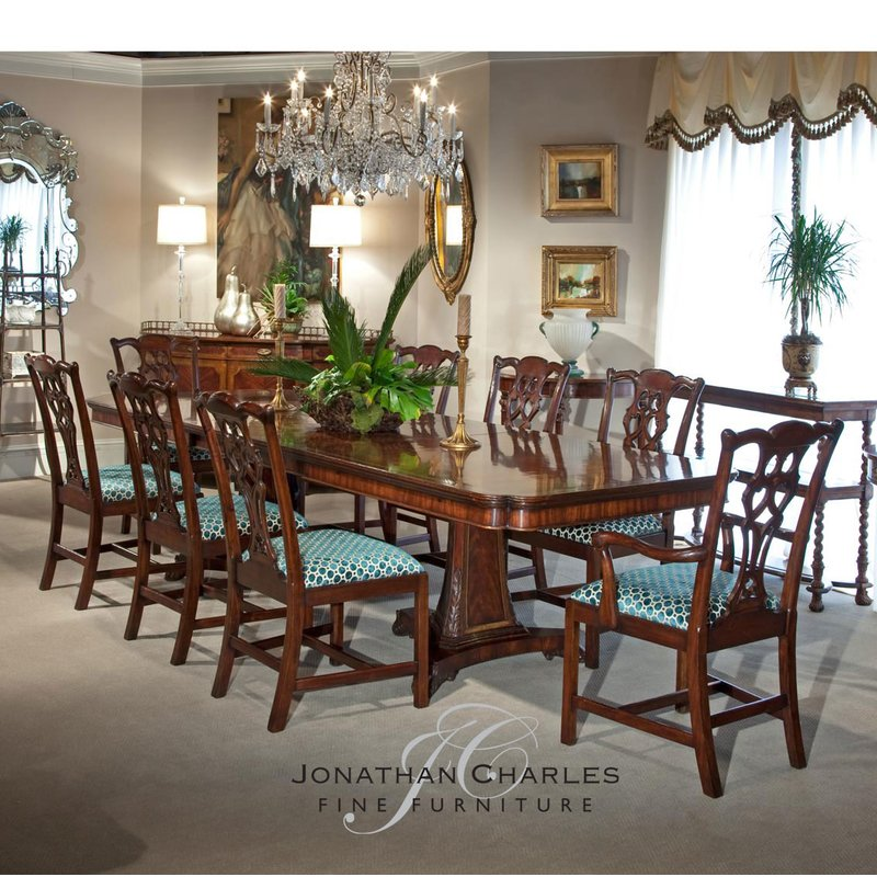 Jonathan Charles Classic Butterfly Leaf Extendable Dining Table
