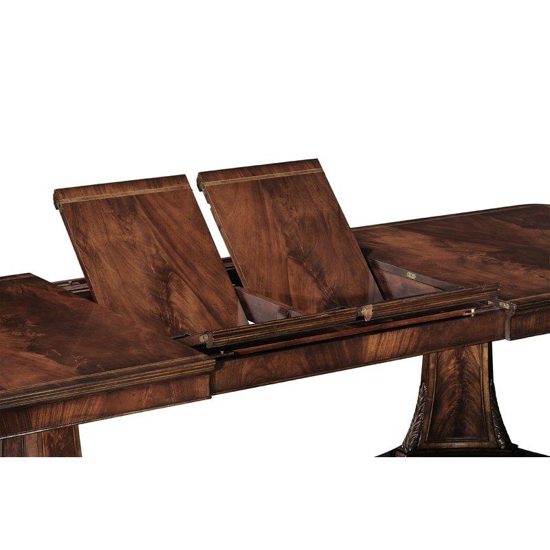 Jonathan Charles Neo-Classical Extendable Table with 2 Butterfly Leaves