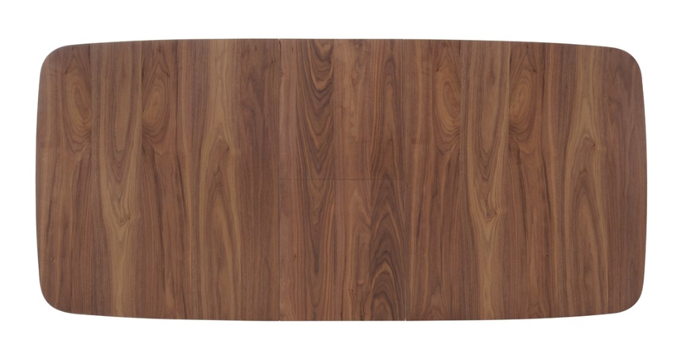 Teak Mid-Century Modern Styled Dining Table with Butterfly Leaf Extension Installed