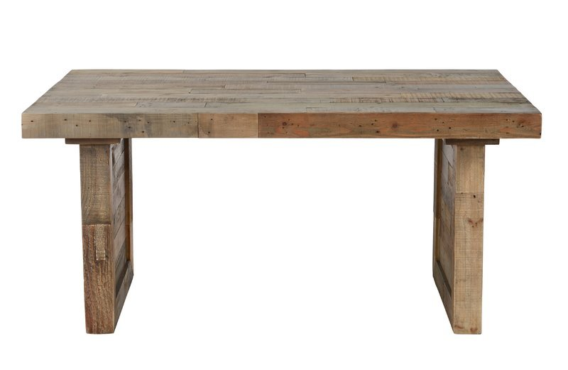 Butcher Block Extendable Dining Table