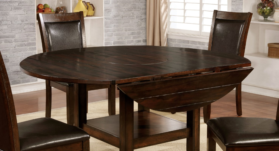 Square Round Drop Leaf Dining Table