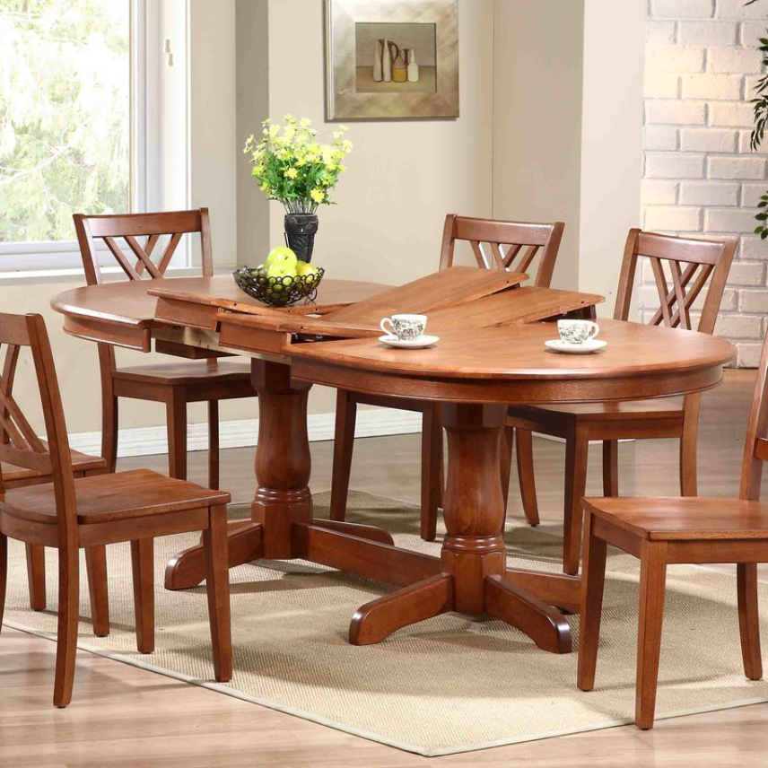 Butterfly Leaf Extension Dining Table and Chairs