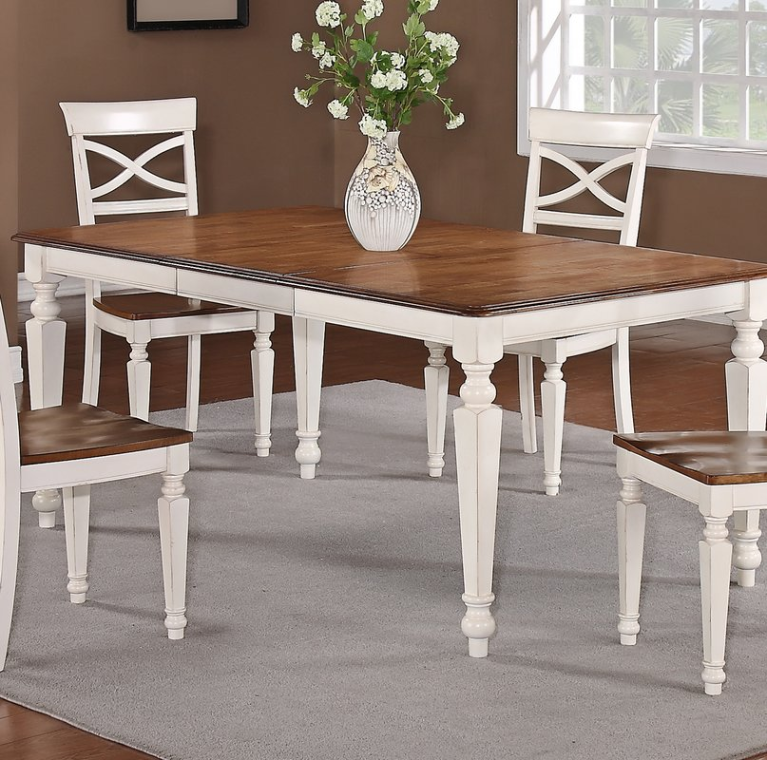 casual contemporary country table with extension leaf