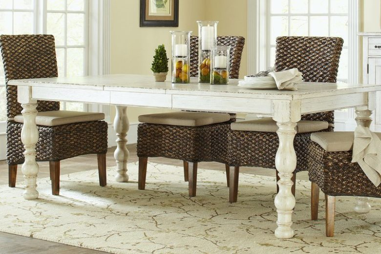 Farmhouse Harvest Styled Extendable Dining Table
