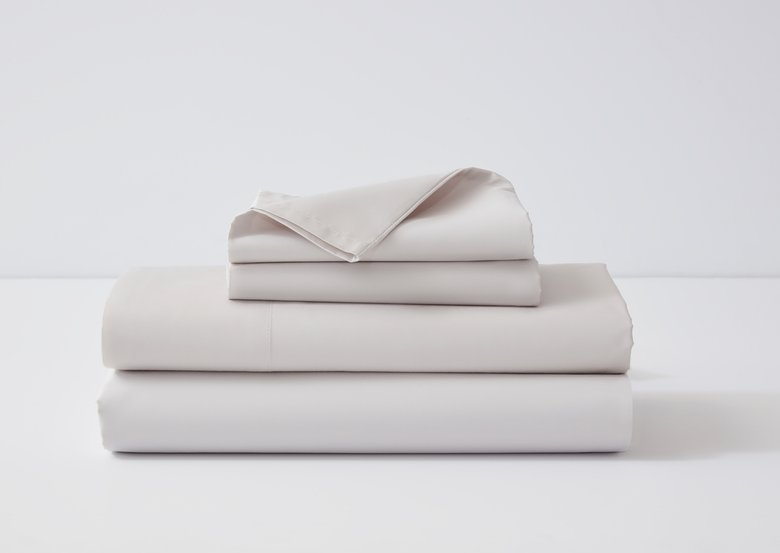 DreamCloud Luxury Percale Bed Sheets in Dove Grey