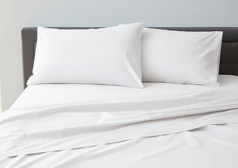 DreamCloud Luxury Percale Bed Sheets in White
