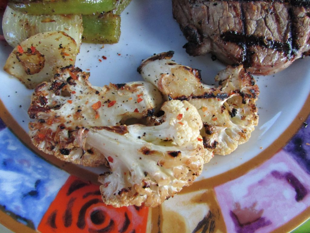 Grilled Cauliflower on the Barbeque