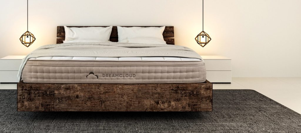 Dreamcloud Mattress on Rustic Bed Frame