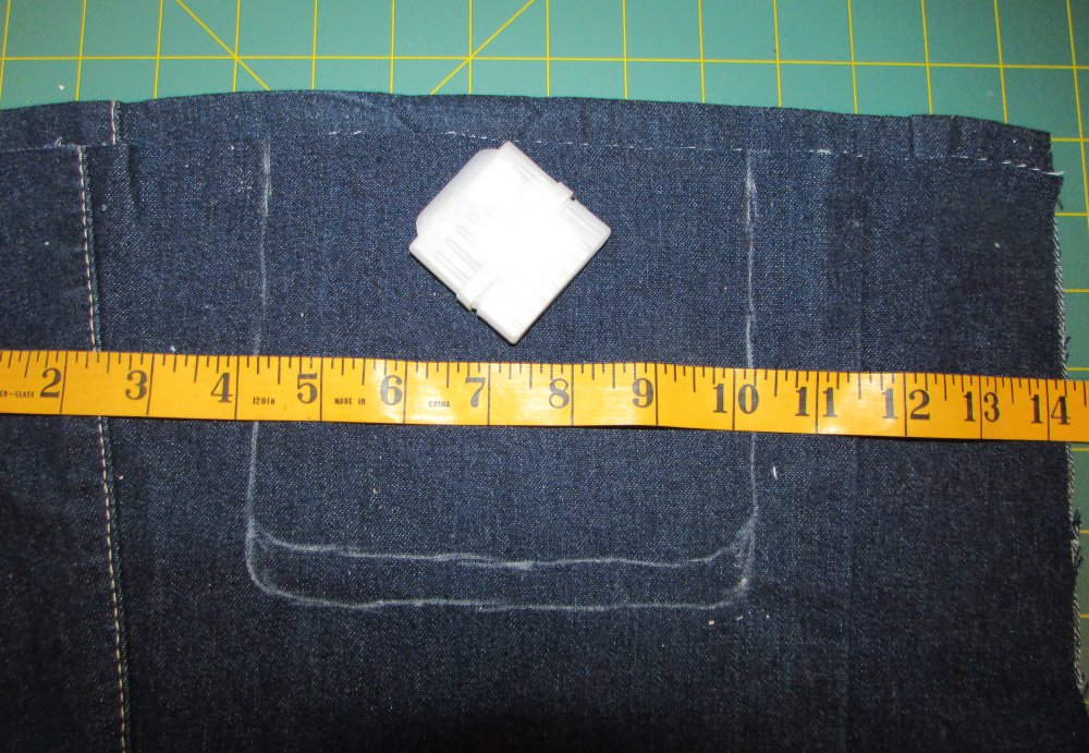 Clothespin Bag in Denim Markings For Opening