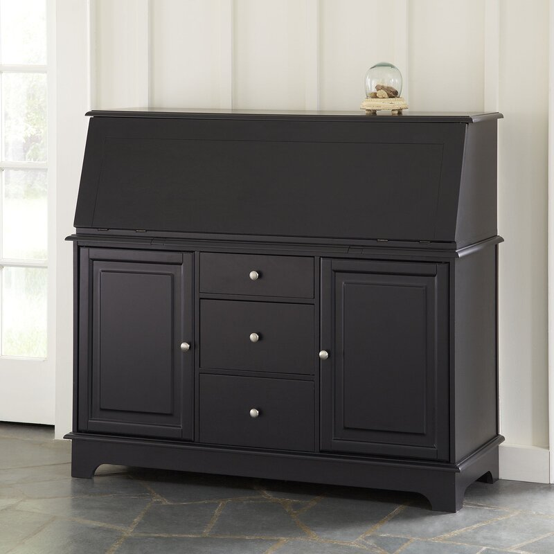 Darby Home Co Secretary Trumble Desk in Black