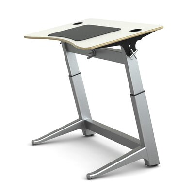 Focal Upright Furniture White Silver Standing Desk
