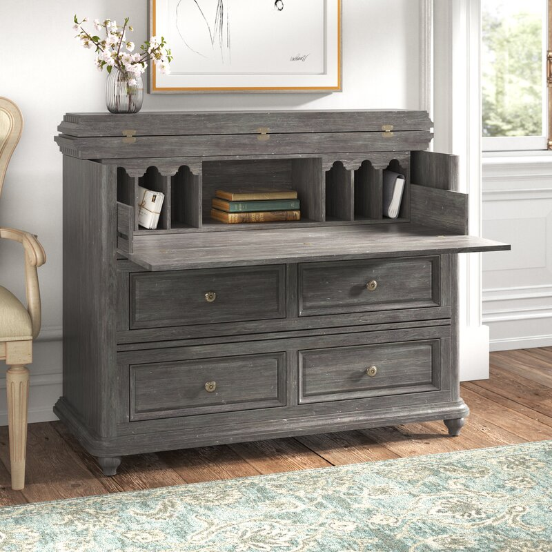 Kelly Clarkson Home Collection 1 Integrated Charging Station Secretary Desk