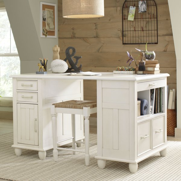 Muriel Executive Desk with Drawers and Shelves