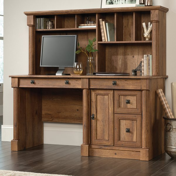 Orviston Computer Desk with Hutch