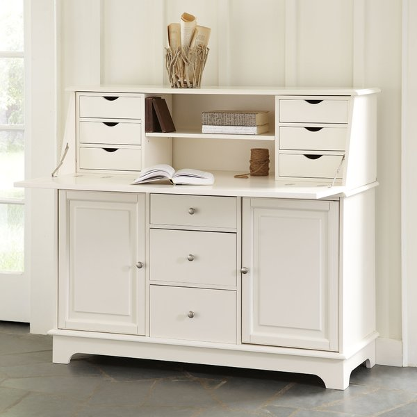 Reddick Secretary Desk with Hutch Open