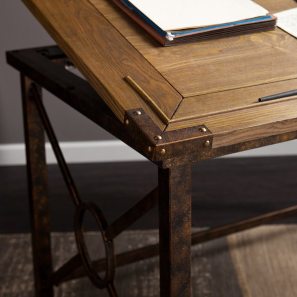 Woburn Drafting Writing Table Tilted