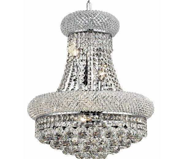 Formal 8 Light Crystal Chandelier