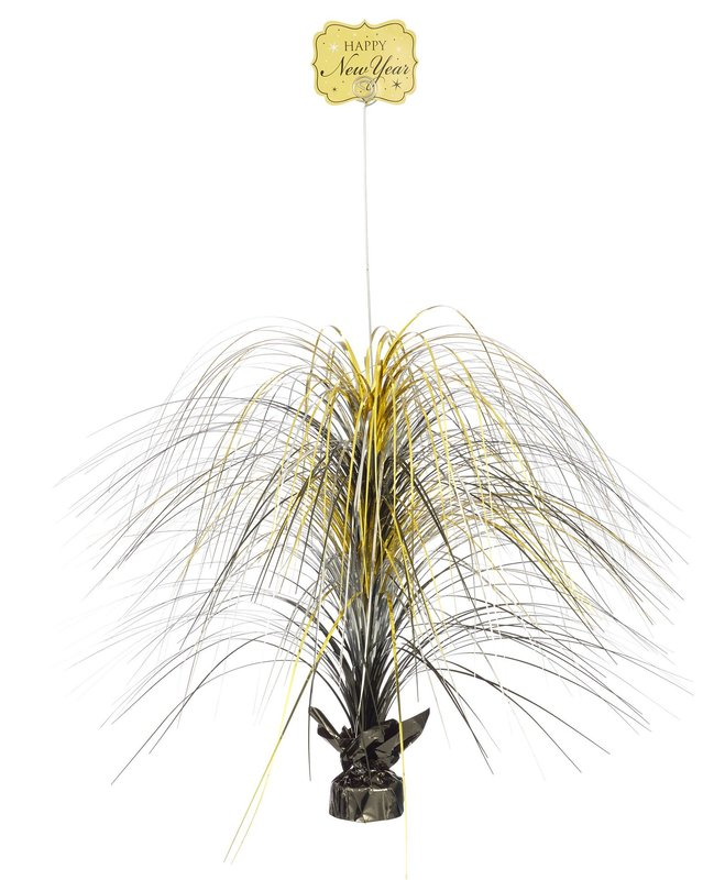 Gold New Years Large Spray Centerpiece