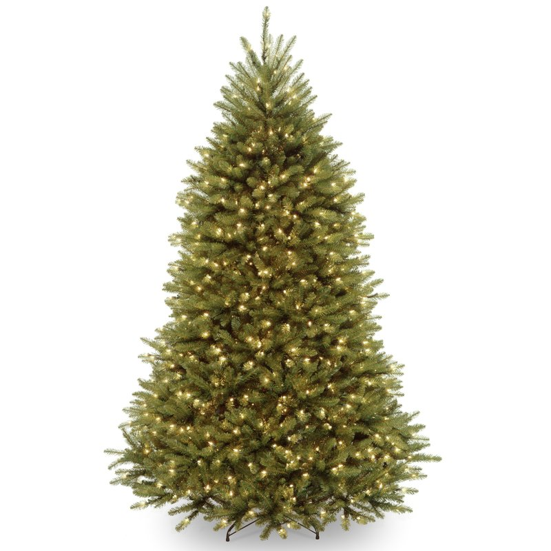 Laurel Foundry Modern Farmhouse Fir 6.5 Foot Hinged Green Artificial Christmas Tree with 650 Clear White Lights