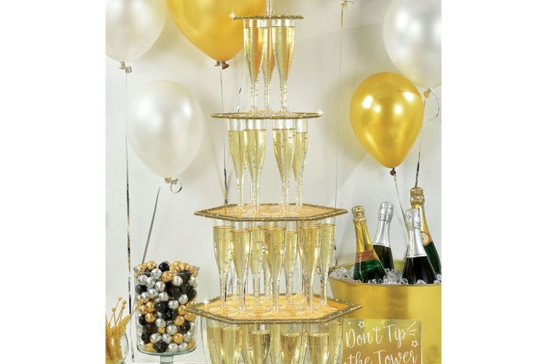 New Years Champagne Gold Tower Kit