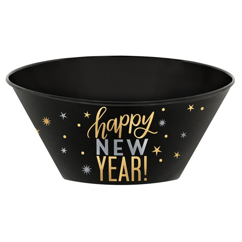 Black and Gold New Years Eve Party Serving Bowl