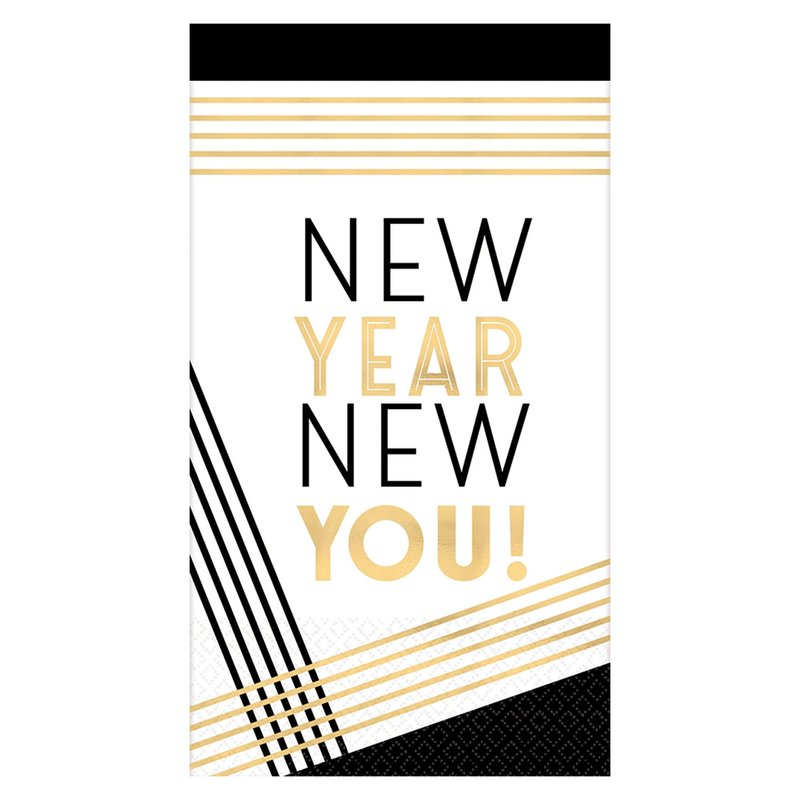 Gold and Black New Years New You Dinner Napkins