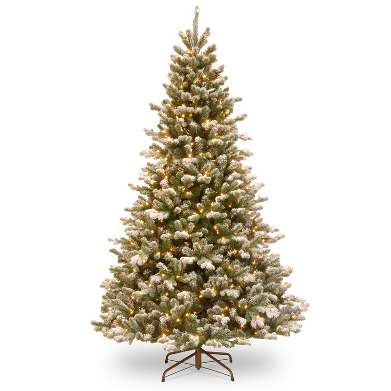 90 Inch Green Spruce Artificial Christmas Tree with 700 White LED Lights and Stand