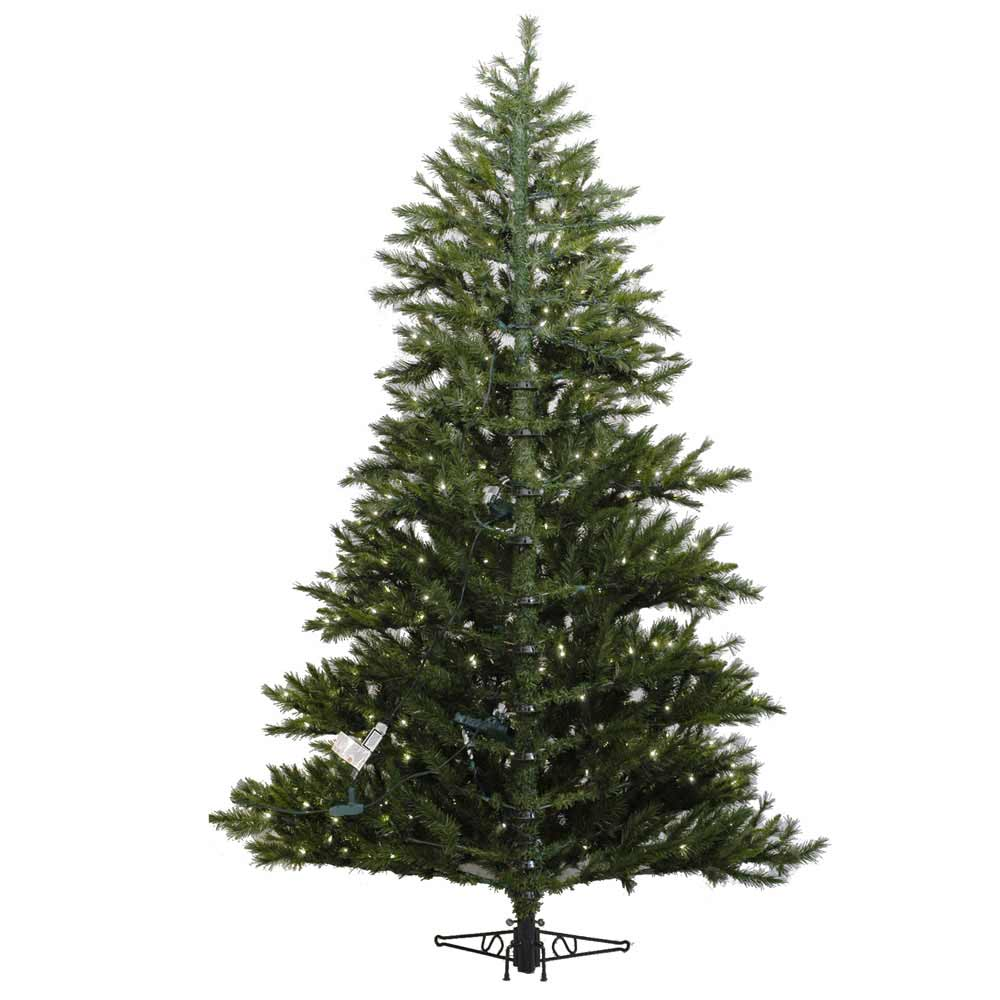 Tall 9 Foot Halfed Artificial Christmas Tree Front View