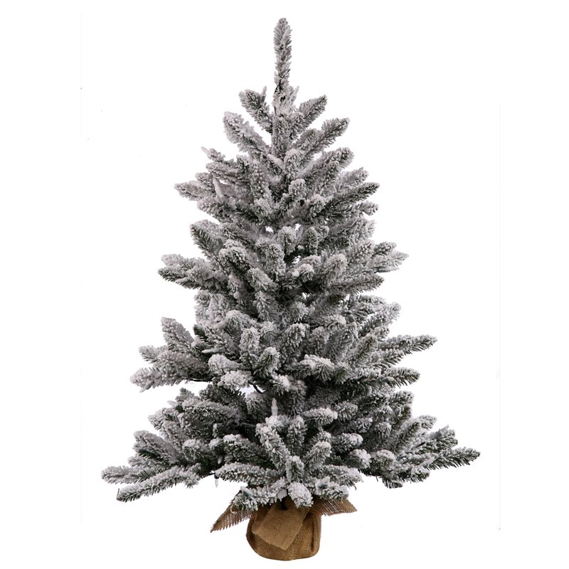 Small Green Pine Artificial Christmas Tree with Base