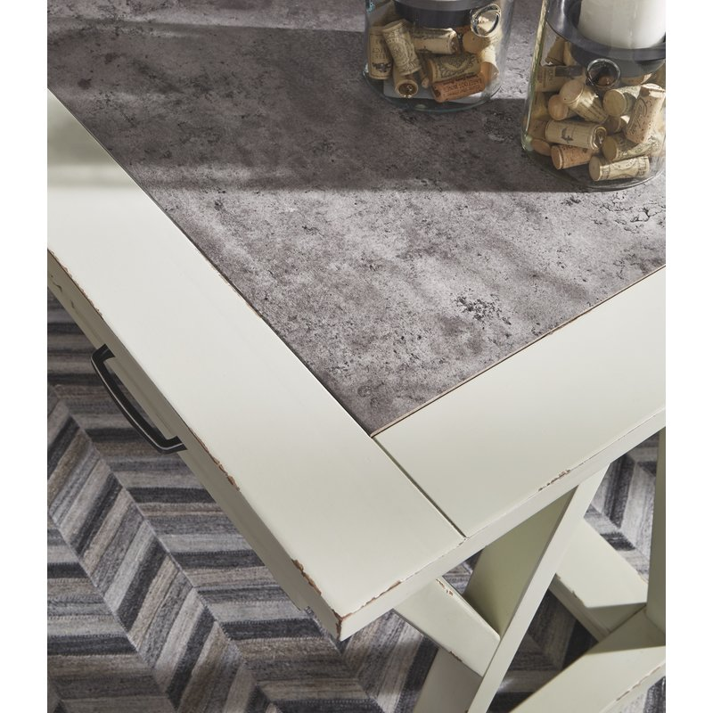 Gracie Oaks Beese Desk with Inset Top