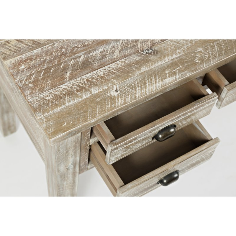 Close Up of Gracie Oaks Mundy 5 Drawer Wooden Writing Desk Drawers