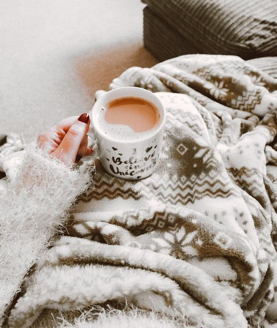 Getting Cozy At Home with a Cup of Coffee