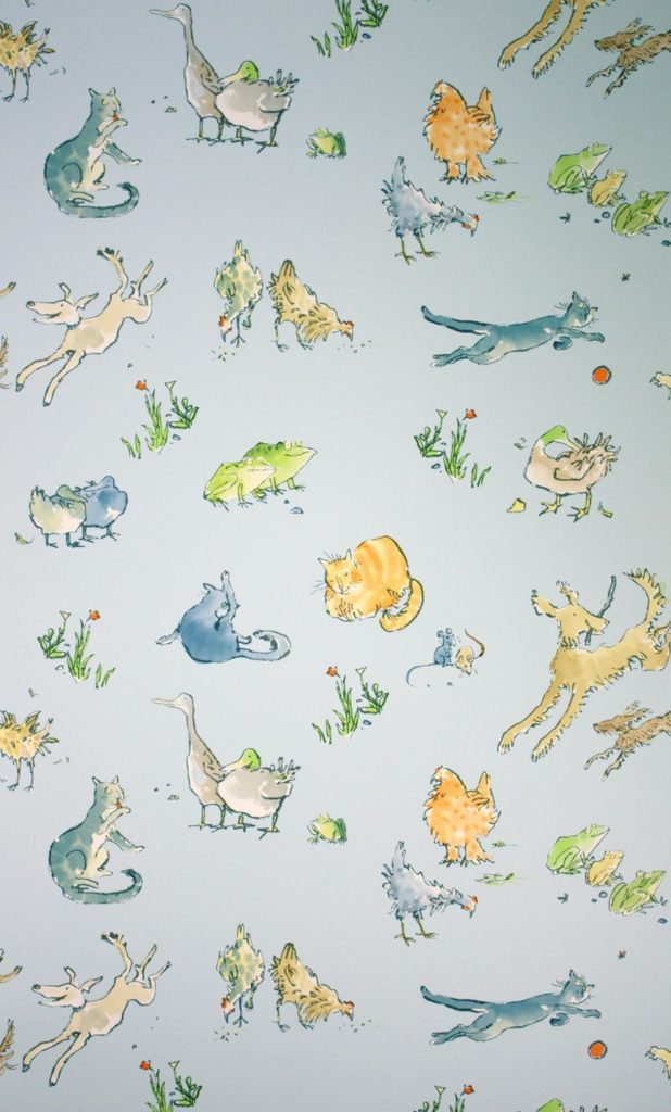 Quentins Menagerie Farm Animal Wallpaper by Osborne and Little
