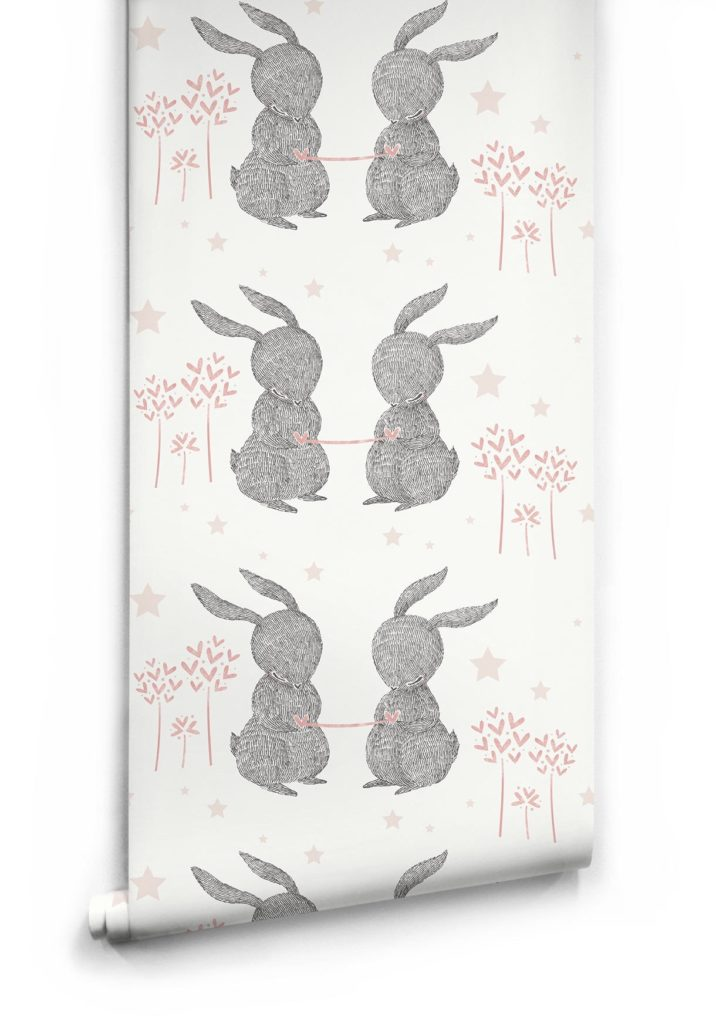 Rabbit Hearts Wallpaper by Muffin Mani for Milton King