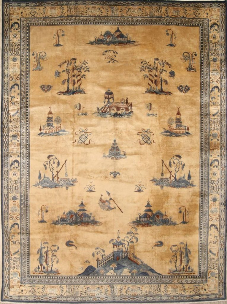 Oriental Peking Large One of a Kind Area Rug