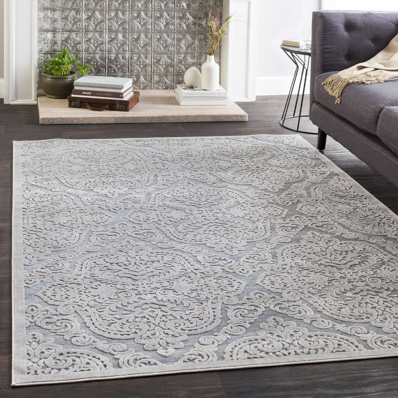 Transitional Dark Gray Area Rug