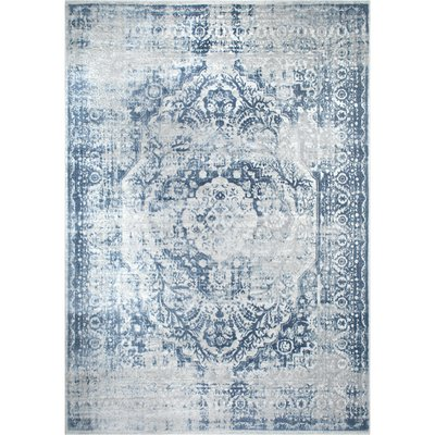 Transitional Kenmare Blue Area Rug