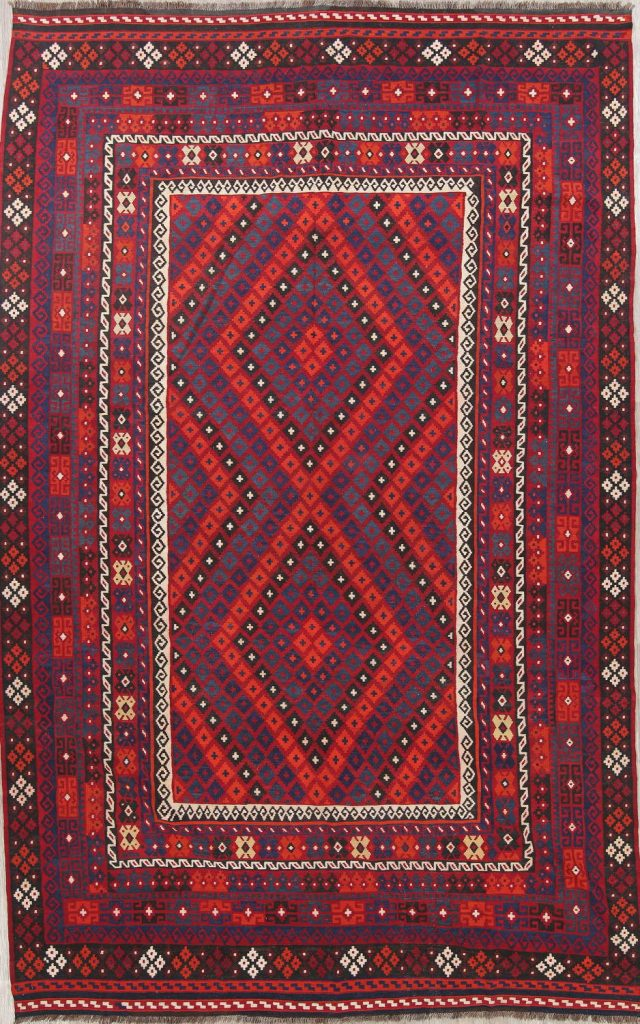 Turkish Kilim Large Wool Area Rug