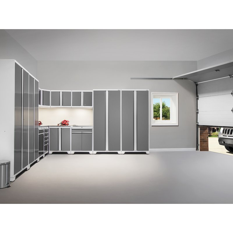 Large Grey Pro Series Garage Cabinet Storage System