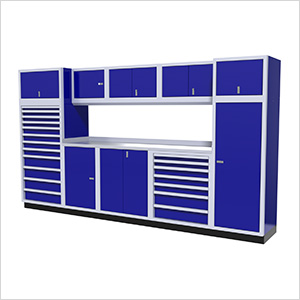 Moduline Modular Aluminum Garage Cabinet Set in Bright Blue