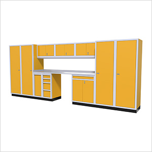 Moduline Modular Aluminum Garage Cabinet Set in Bright Yellow