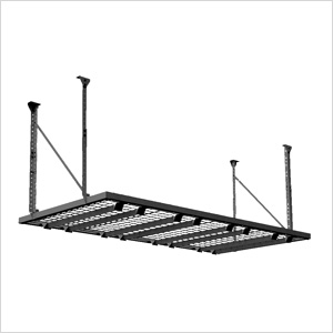 Black heavy duty overhead garage storage rack