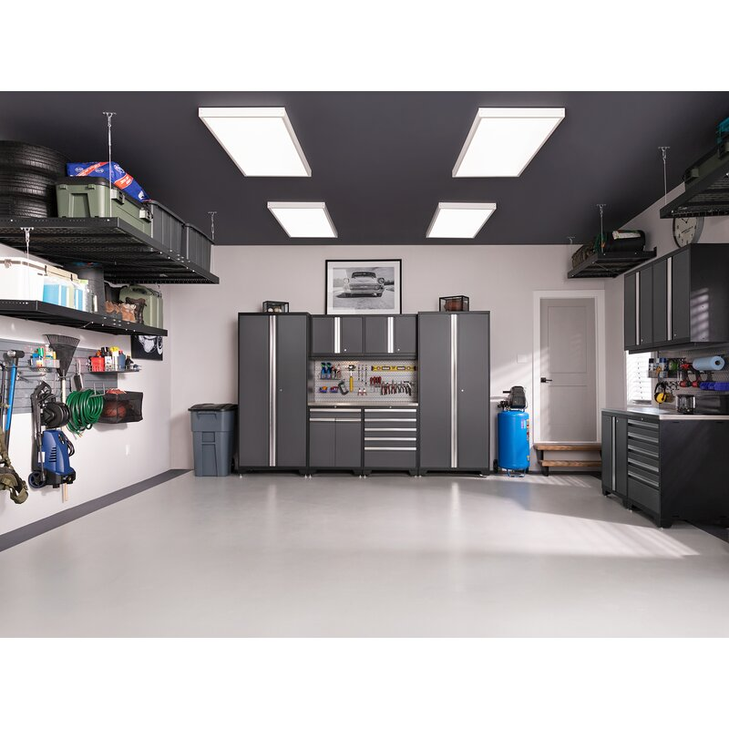 Organized garage with garage storage systems installed